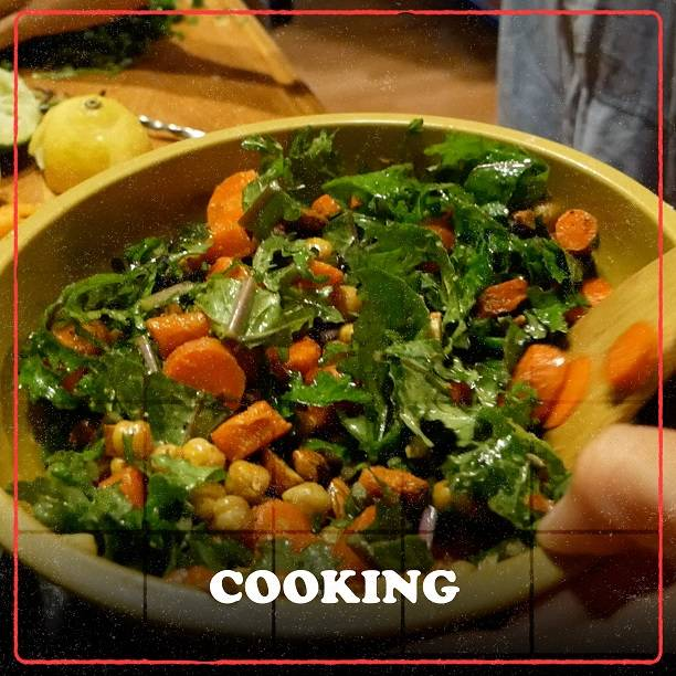 Cooking w/ Coach + Bonnie